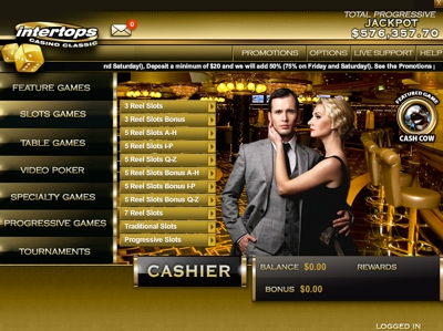 Go to Intertops No Download Casino Classic