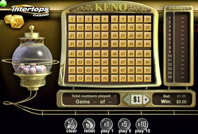 Flash Keno without Download - Play at Casino Classic